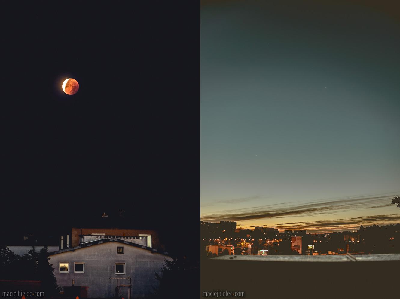 Krwawy księżyc 2015 / świt nad Lublinem