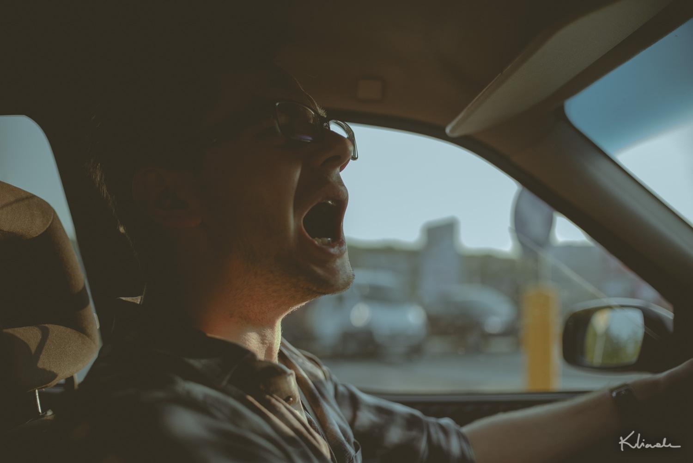 Niewyspany kierowca