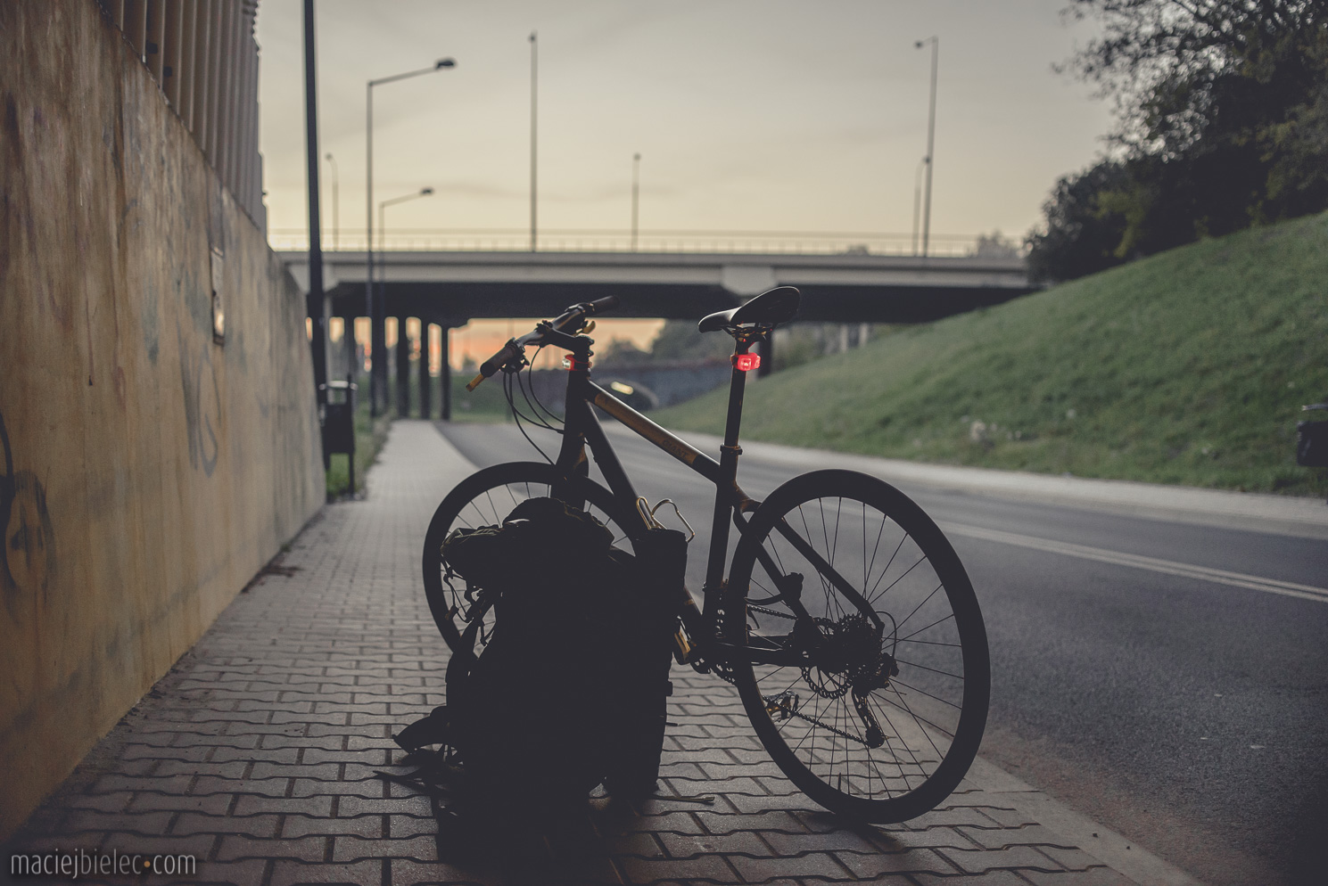 Lublin rowerem przed zmrokiem