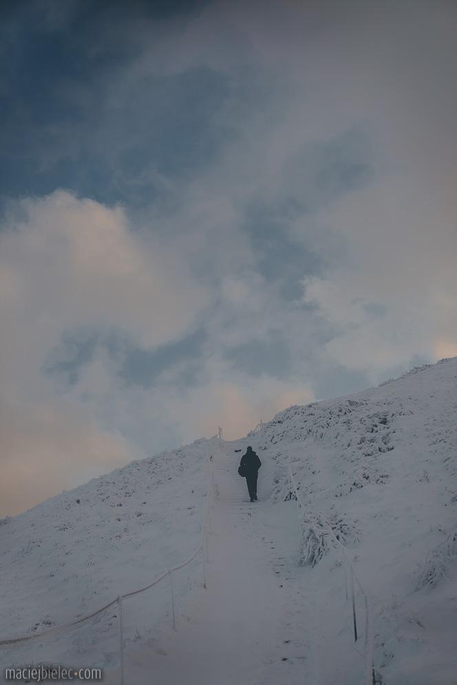 Podejście na Tarnicę zimą
