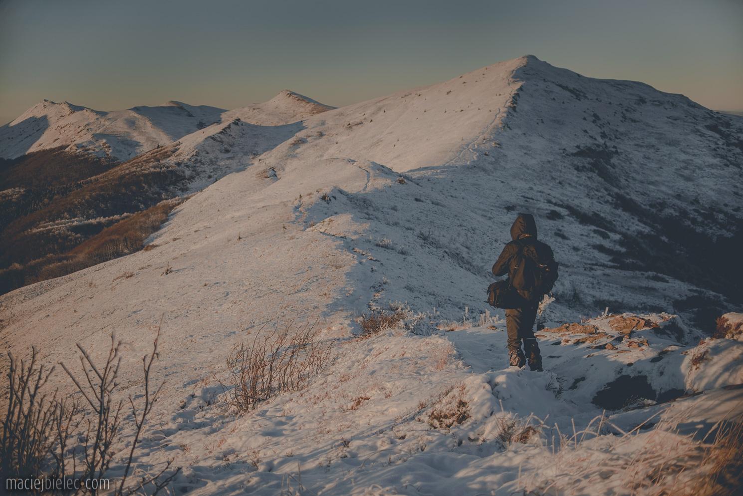 Szlak na Halicz zimą
