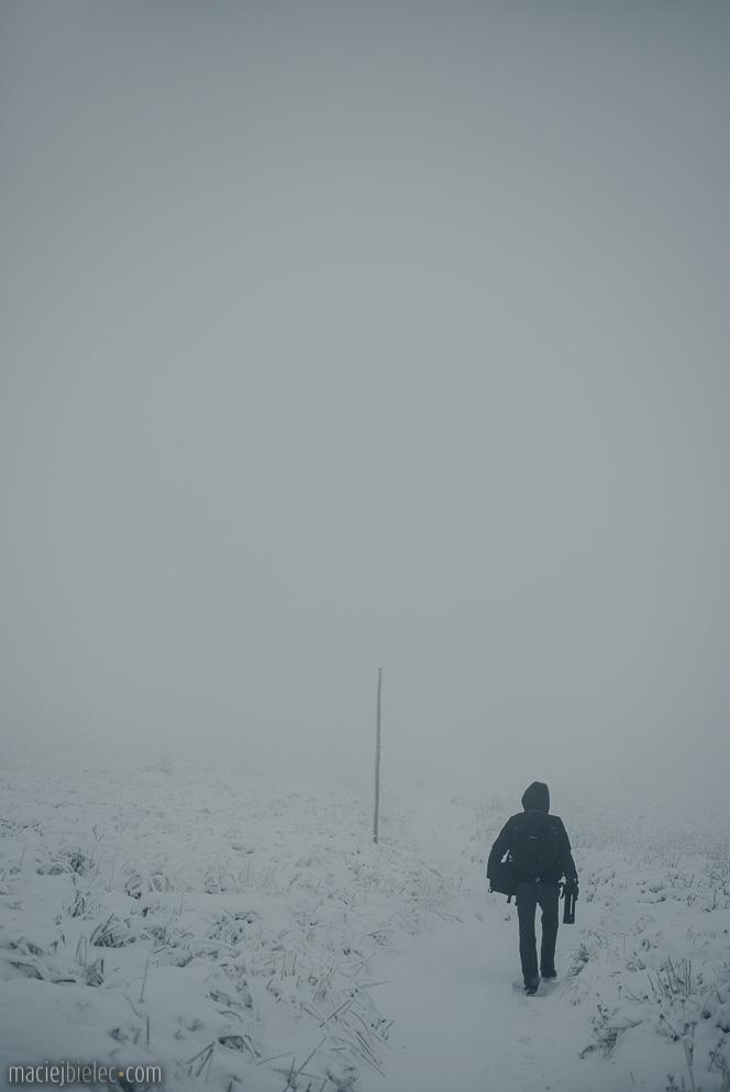 Połonina Wetlińska zimą