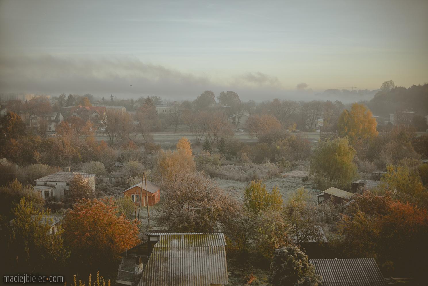 Mglisty poranek w Lublinie