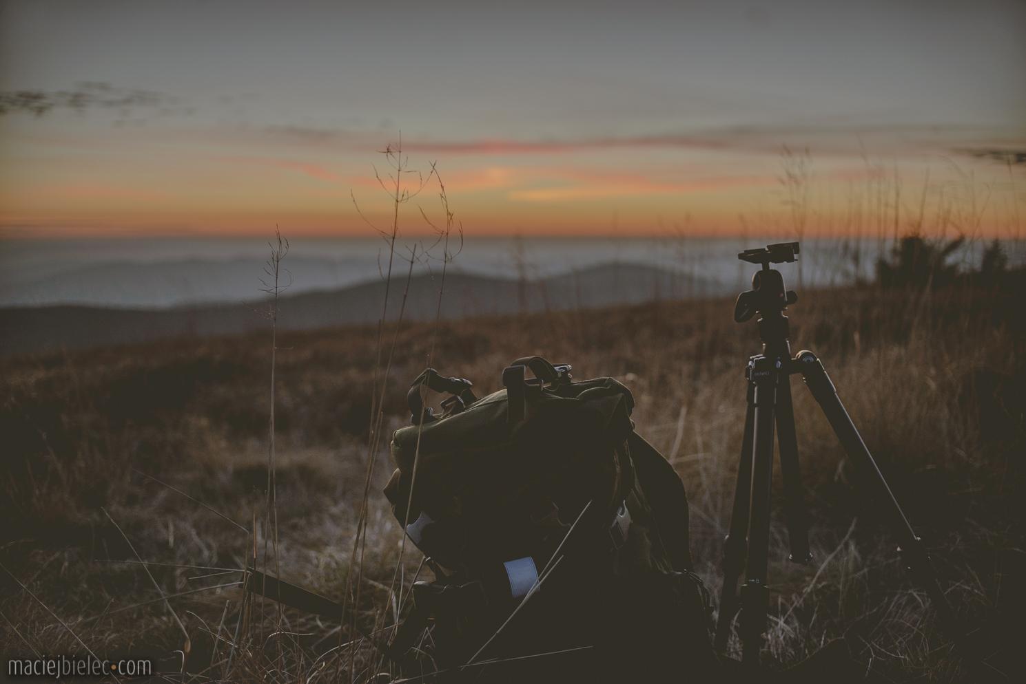 Zachód słońca na Wielkiej Rawce